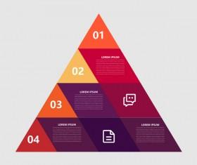 Minimalistic design infographic template vectors material 07