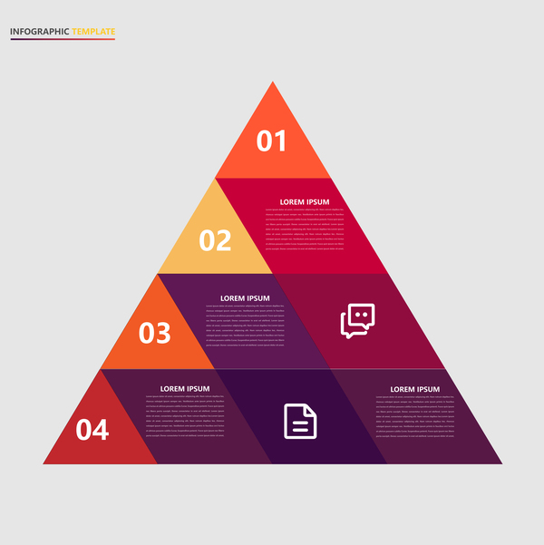Minimalistic design infographic template vectors material 07