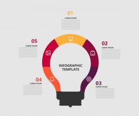 Minimalistic design infographic template vectors material 08