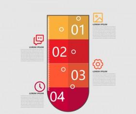 Minimalistic design infographic template vectors material 09