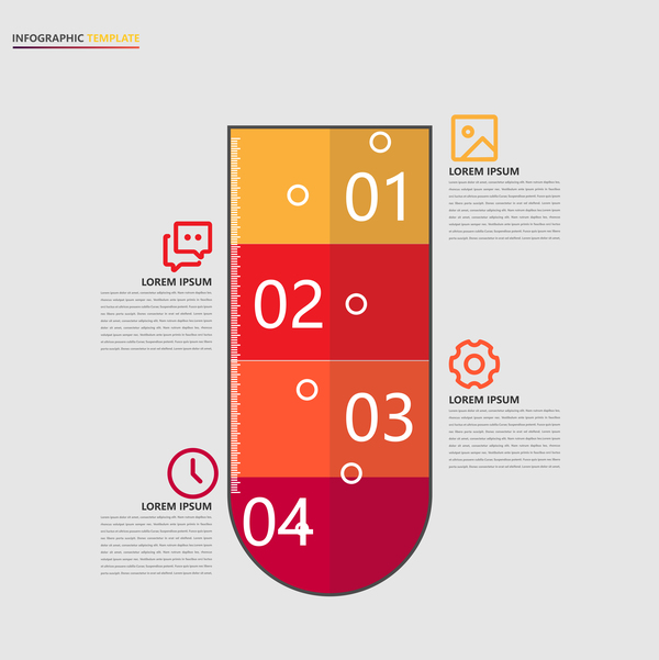 Minimalistic design infographic template vectors material 09