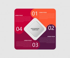 Minimalistic design infographic template vectors material 11