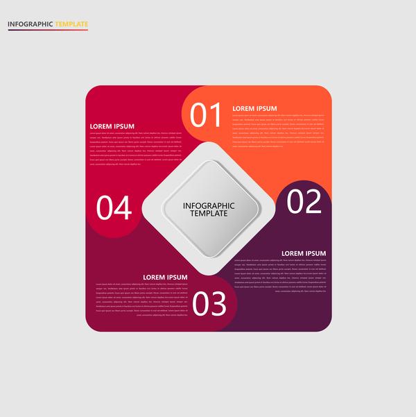 Minimalistic design infographic template vectors material 11
