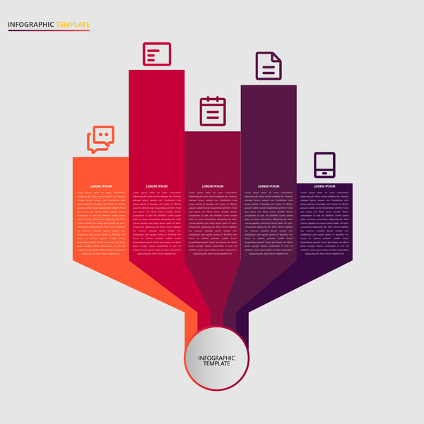 Minimalistic design infographic template vectors material 12