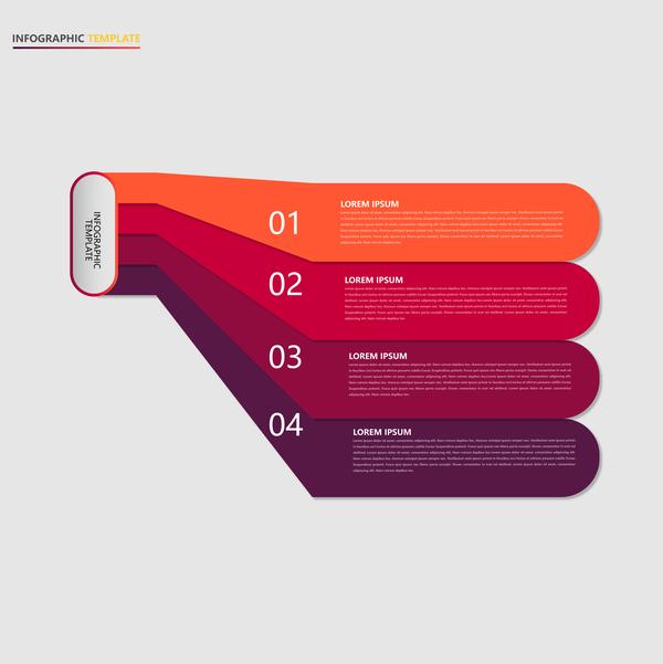 Minimalistic design infographic template vectors material 14