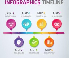Modern timeline infographic template vector 04