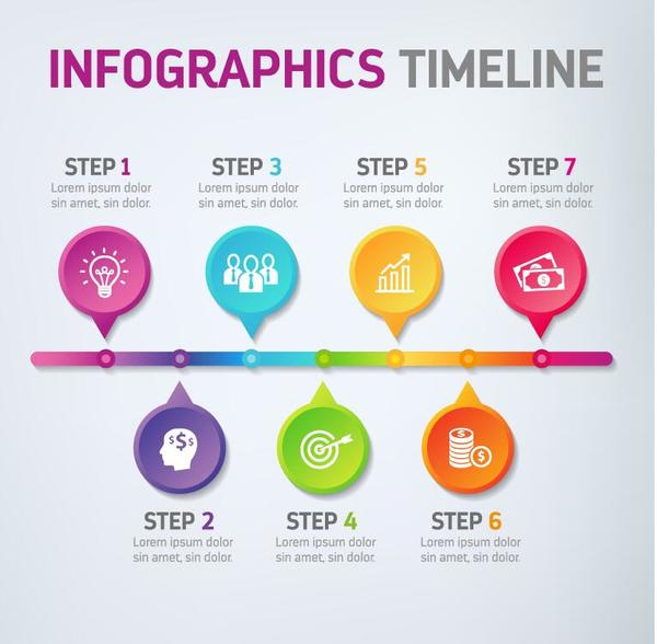Infographic timeline template free download