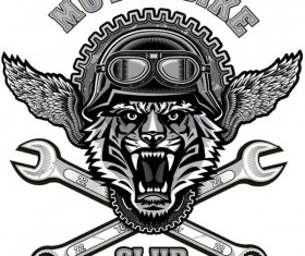 Motorcycle club sign design vector 06