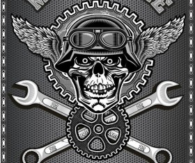 Motorcycle club sign design vector 09