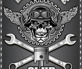 Motorcycle club sign design vector 10