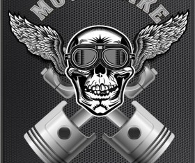 Motorcycle club sign design vector 11