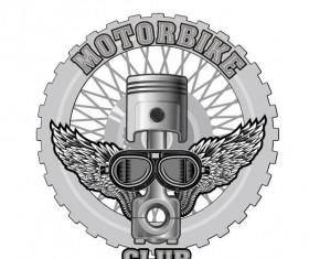 Motorcycle club sign design vector 12