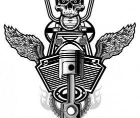 Motorcycle club sign design vector 13