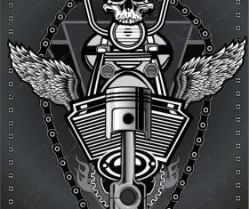 Motorcycle club sign design vector 14