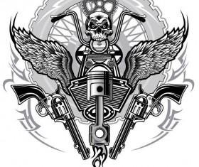 Motorcycle club sign design vector 15
