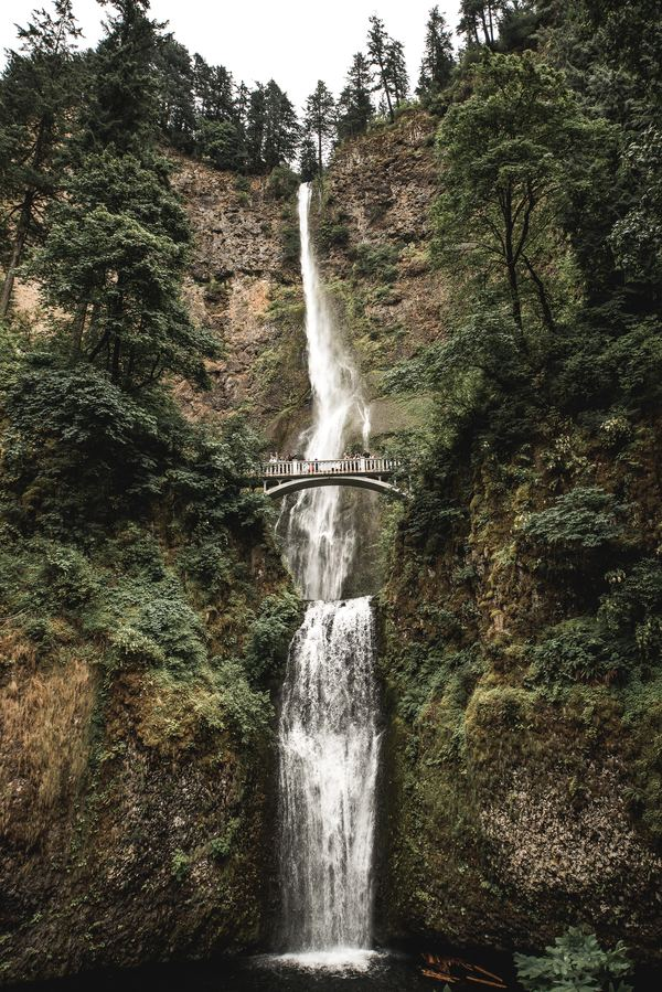 Multnomah falls Portland Stock Photo