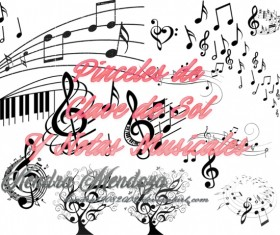 Musical Notes photoshop brushes