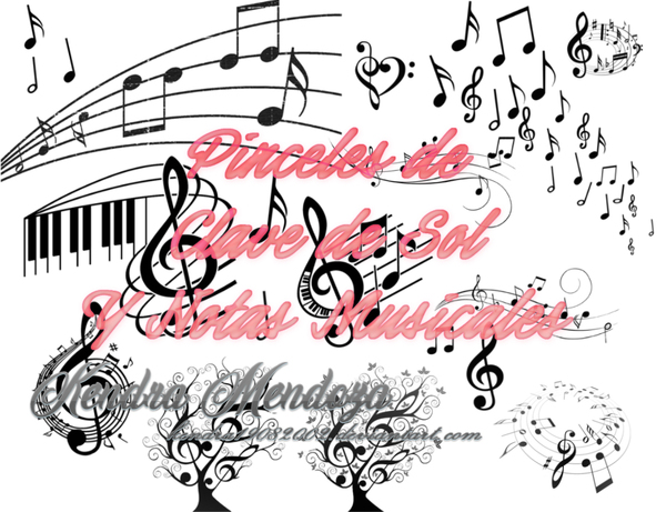 Musical Notes photoshop brushes