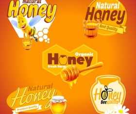Nature honey banners design vectors 04