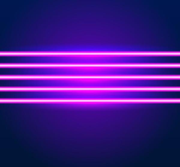Neon Lights Shining Background Vector 06 Free Download