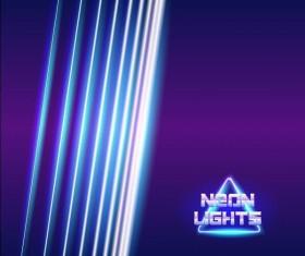 Neon lights shining background vector 07