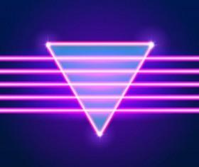 Neon lights shining background vector 08
