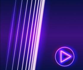 Neon lights shining background vector 10