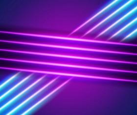 Neon lights shining background vector 11