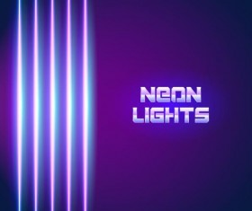 Neon lights shining background vector 12