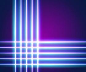 Neon lights shining background vector 13
