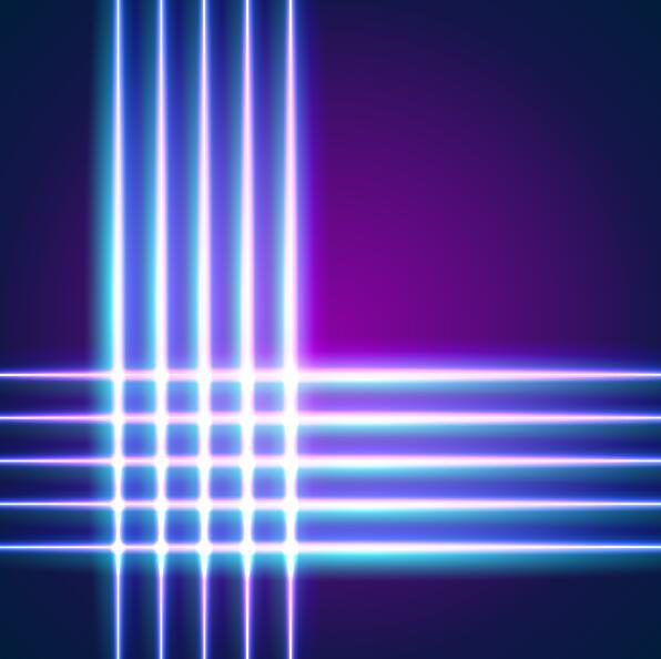 neon lights shining background vector 13
