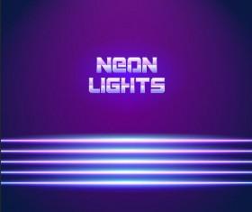 Neon lights shining background vector 14