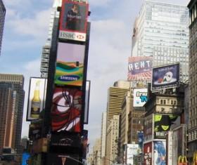 New York Manhattan Plaza Stock Photo