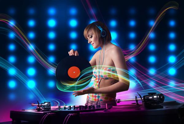 Nightclub DJ Princess Stock Photo 01