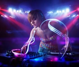 Nightclub DJ Princess Stock Photo 02