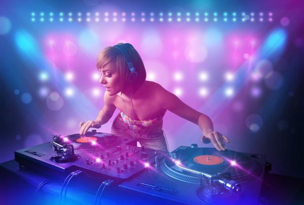 Nightclub DJ Princess Stock Photo 03