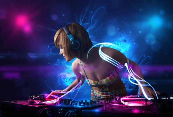 Nightclub DJ Princess Stock Photo 04