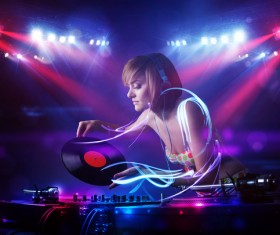 Nightclub DJ Princess Stock Photo 05