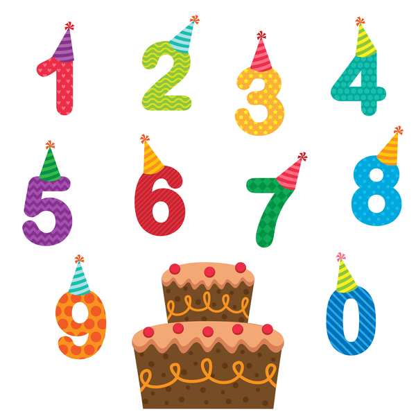 Number With Birthday Cake Vector Free Download