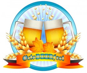Oktoberfest labels design vector 01