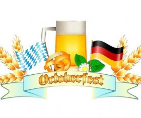Oktoberfest labels design vector 02