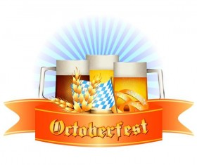 Oktoberfest labels design vector 03