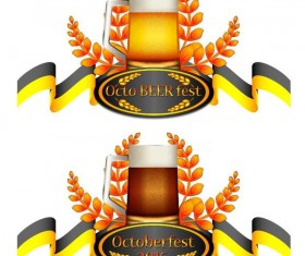 Oktoberfest labels design vector 04