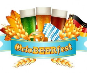 Oktoberfest labels design vector 05