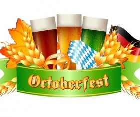 Oktoberfest labels design vector 06