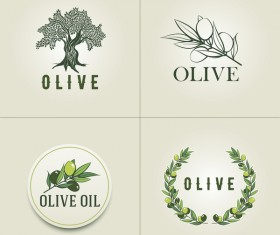 Olive logo set vector