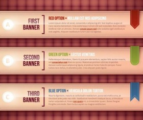 Options banners business vector 04