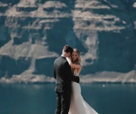 Outdoor beautiful wedding photos Stock Photo