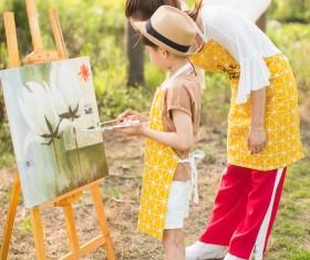 Painting children Stock Photo