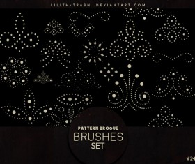 Pattern Brogue photoshop brushes